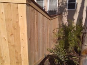 Picture Frame Wood Fence