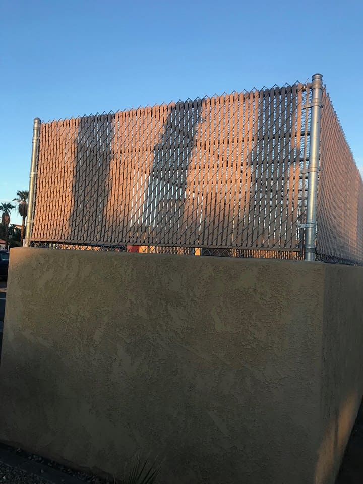 Chain Link Dumpster 3- Wells Fargo Bank