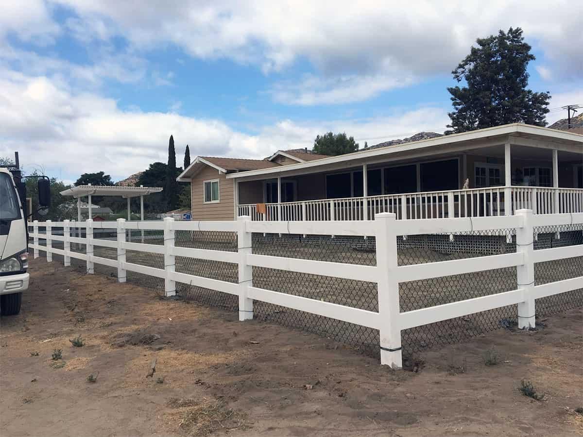White Vinyl Ranch Rail Fencing Legend Fence Corp