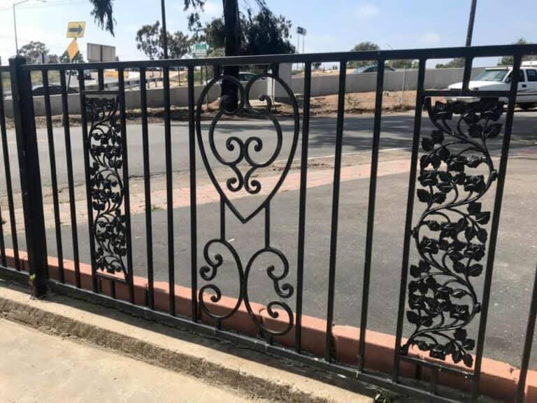 Decorative Iron Sliding Gate - Legend Fence