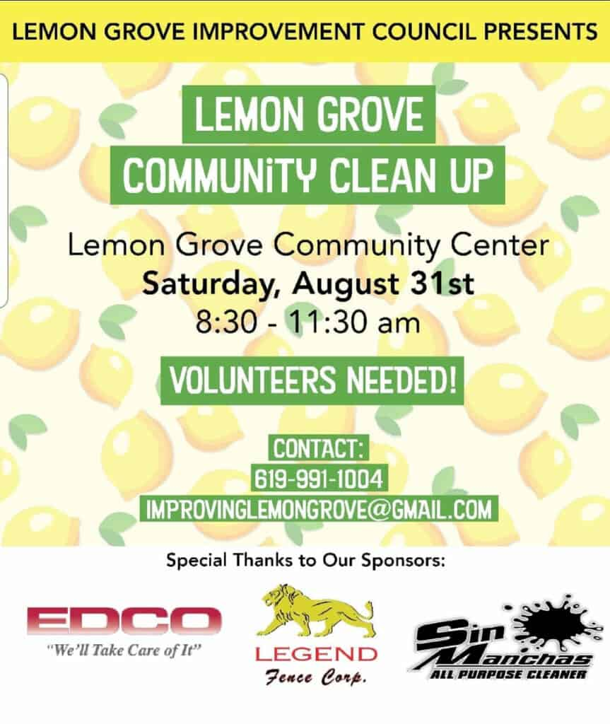 Lemon Grove Clean Up