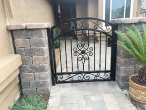 Custom Wrought Iron Gate - Legend Fence