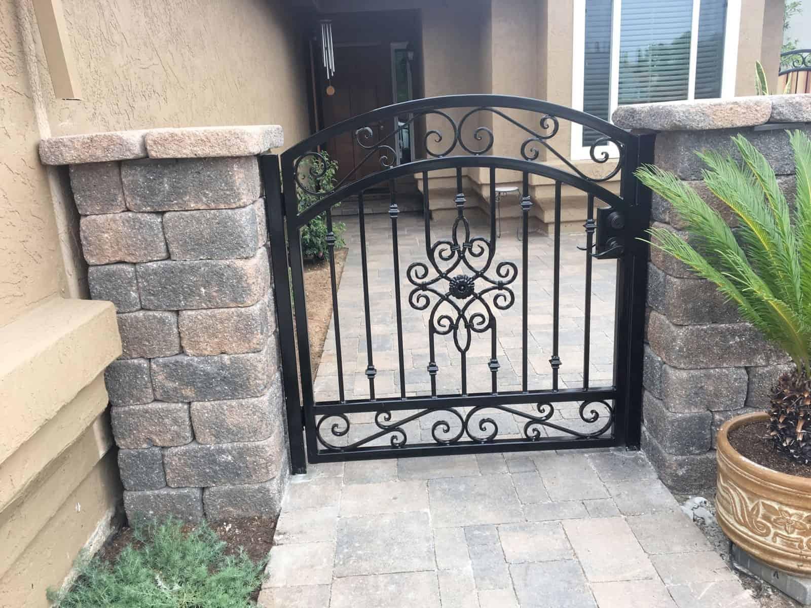 Custom Wrought Iron Gate - Legend Fence