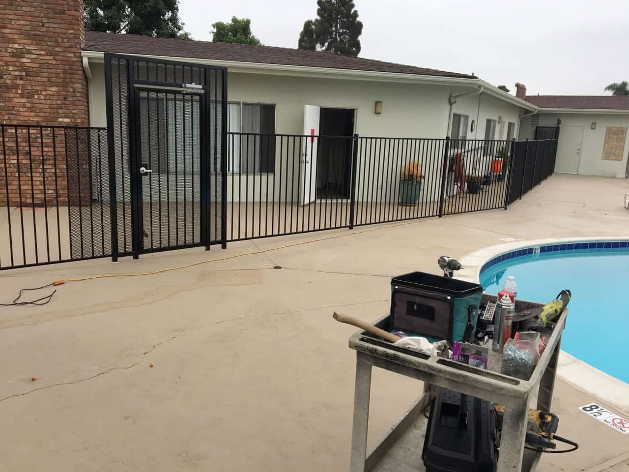 Swimming Pool Iron Fence & Gate - Legend Fence